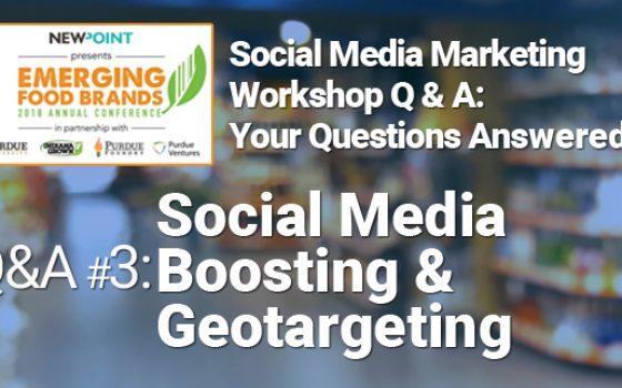 Social Media Boosting and Geotargeting